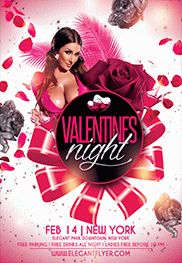 Happy Valentine's Day – Flyer PSD Template