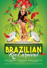 Music Flyer for Brazilian Rio Carnival