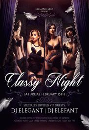 Flyer Template for Classy Night Dresses