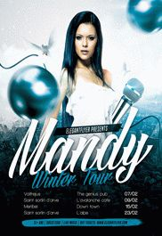 DJ Mandy Winter Tour – Flyer PSD Template