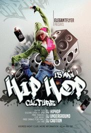 Hip-Hop Party – Free Flyer PSD Template + Facebook Cover