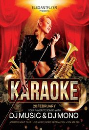 Karaoke Club – Flyer PSD Template
