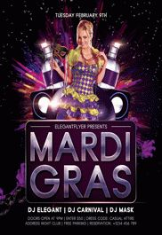 Mardi Gras V03 – Free Flyer PSD Template + Facebook Cover