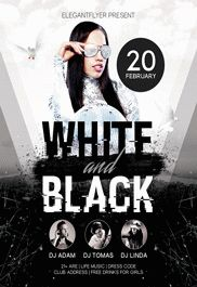 White And Black – Free Flyer PSD Template