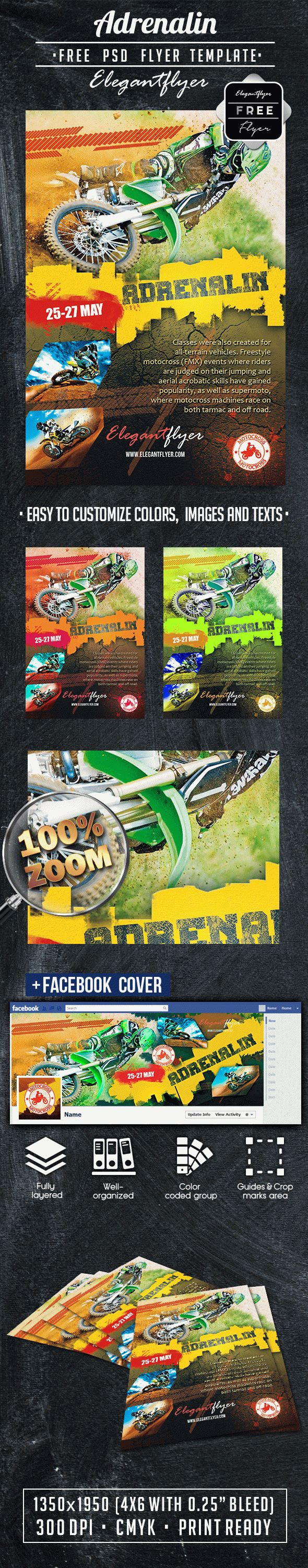 Adrenalin – Free Flyer PSD Template