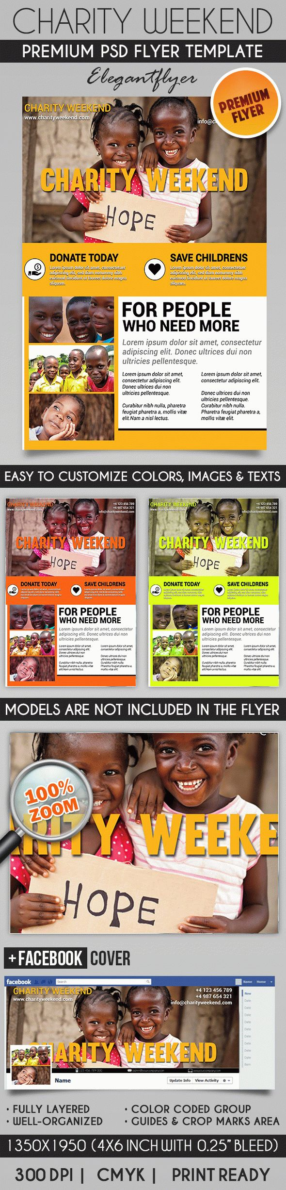 Charity Weekend – Flyer PSD Template + Facebook Cover