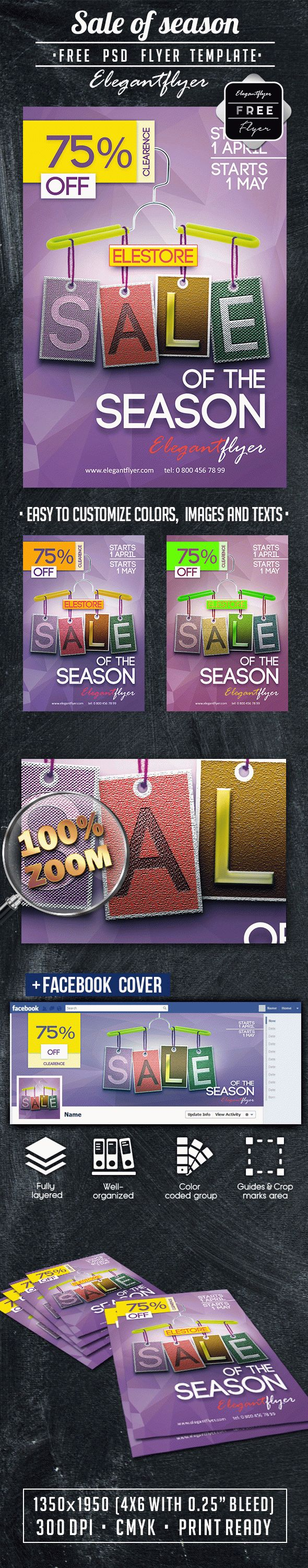 Sale of season – Free PSD Flyer Template