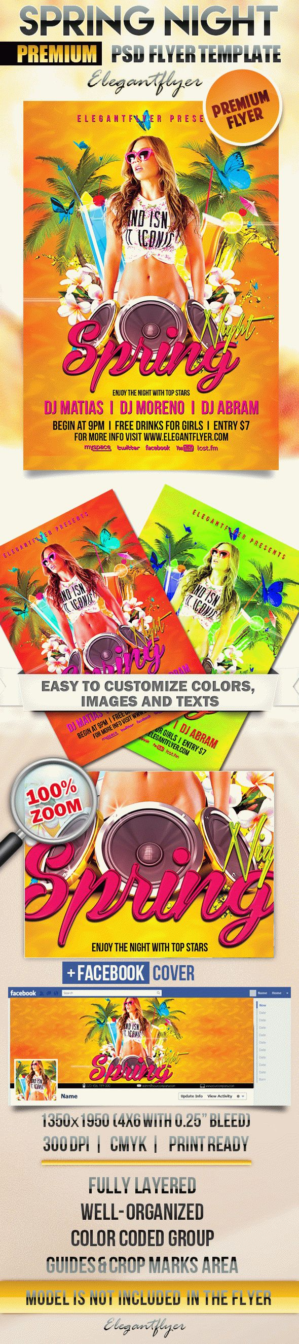 Spring Night – Flyer PSD Template