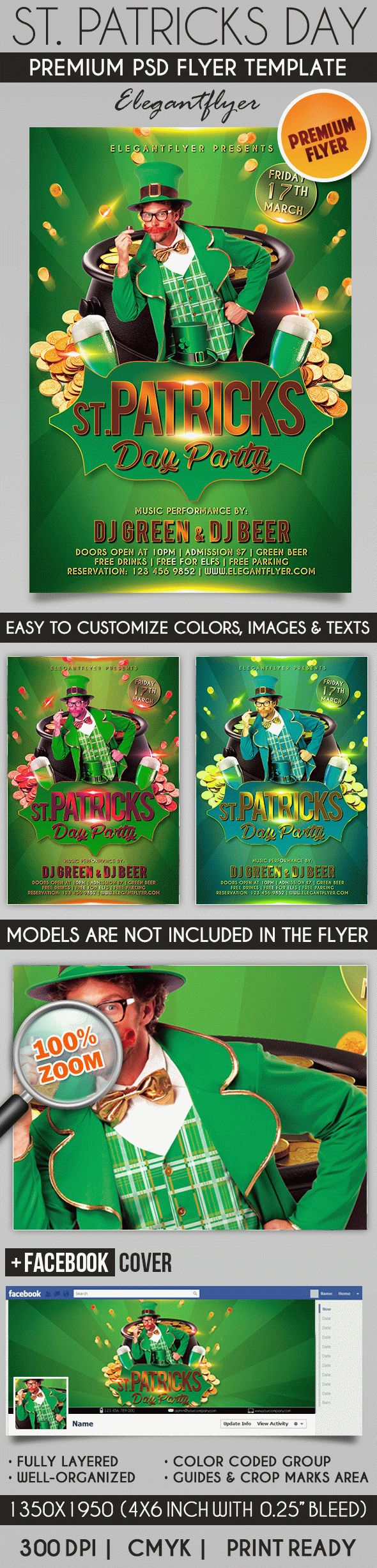 template for st  patricks day parade  u2013 by elegantflyer