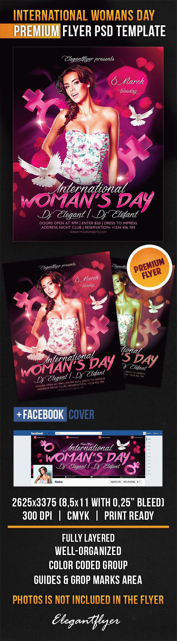 International Womans Day – Flyer PSD Template