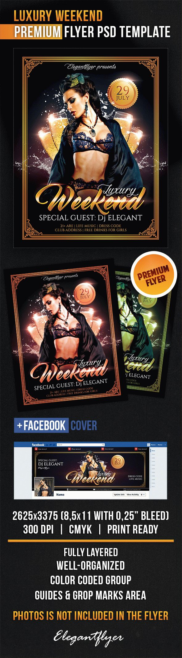 Luxury Weekend Flyer Template