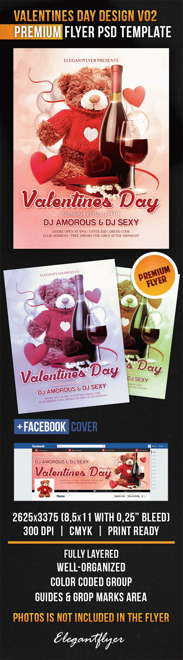 Valentines Day Design V02 – Flyer PSD Template