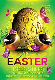 Easter Party V03 – Flyer PSD Template