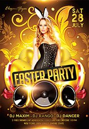 Easter Party V04 – Flyer PSD Template