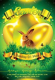 Easter Party V05 – Free Flyer PSD Template