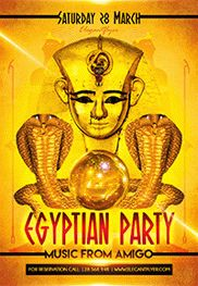 Egyptian Party V02 – Free Flyer PSD Template