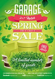 Garage Spring Sale – Flyer PSD Template