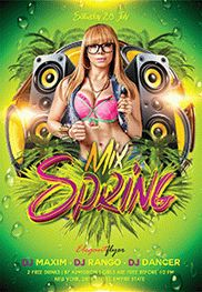 Spring Mix – Flyer PSD Template