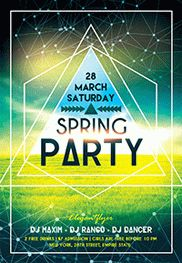 Spring Party V02 – Flyer PSD Template