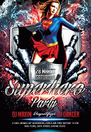 Superhero Party V02 – Flyer PSD Template