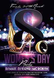 Women's Day – Flyer PSD Template + Facebook Cover