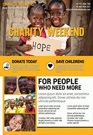 Charity Weekend – Flyer PSD Template