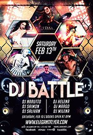 Invitation Flyer For Dj Battle