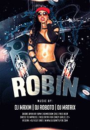Dj Robin – Flyer PSD Template