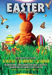 Easter Bunny – Free Flyer PSD Template