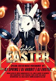Gold Easter – Flyer PSD Template