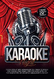 Karaoke Friday Night PSD Template