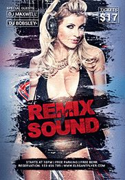 Flyer Template For Sound Remix