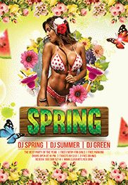 Flyer Template For Spring Break
