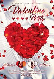 Valentine's Day Party – Free Flyer PSD Template