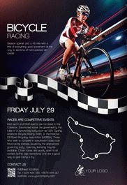 Bicycle Racing – Flyer PSD Template