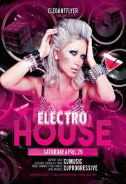 Electro House Flyer PSD Template