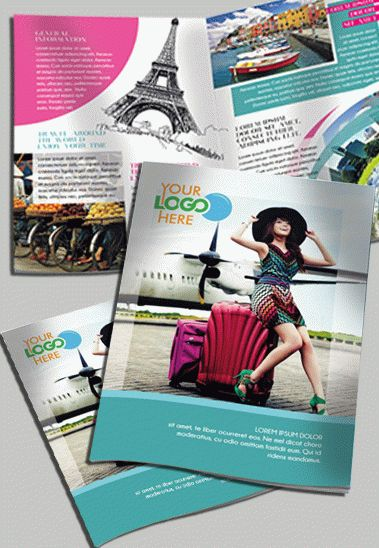 Travel – Free Bi-fold PSD Brochure Template
