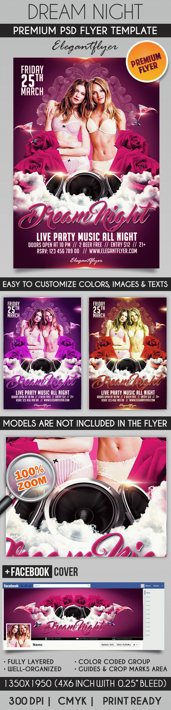 Dream Night – Flyer PSD Template