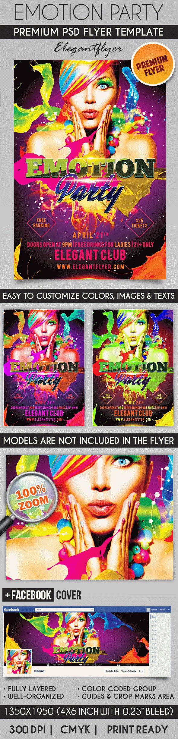 Emotion Party – Flyer PSD Template