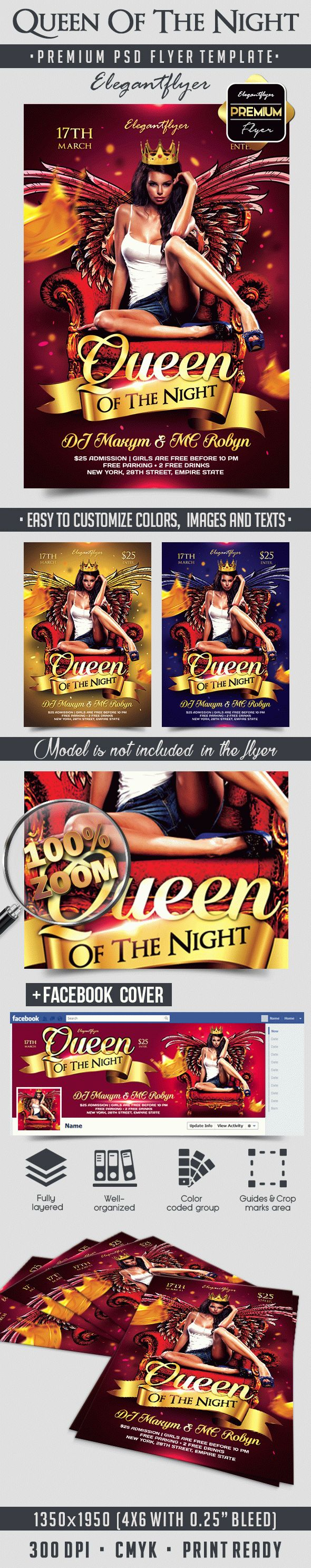 Queen Of The Night – Flyer PSD Template