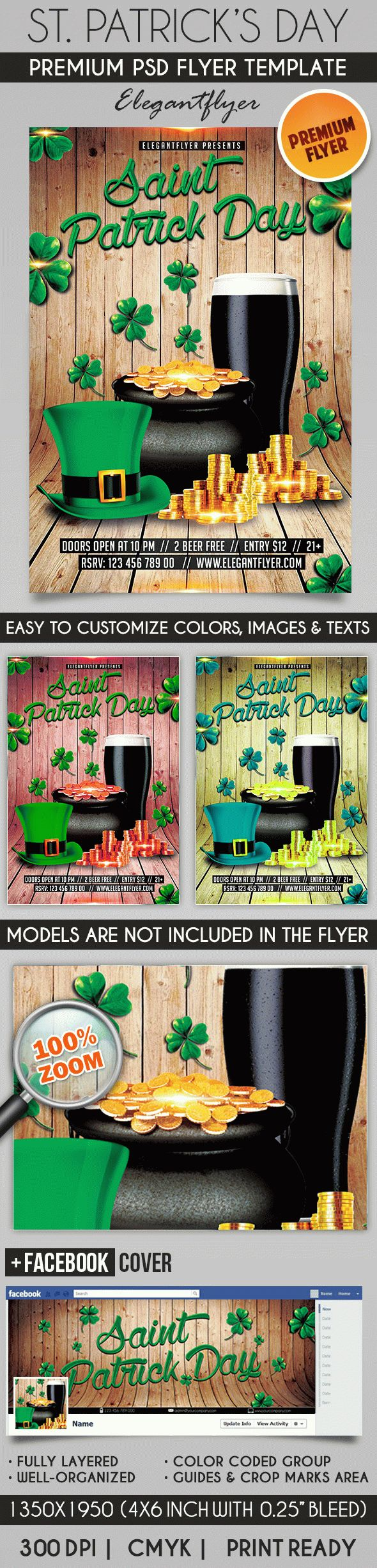 saint patrick day  u2013 flyer psd template  u2013 by elegantflyer