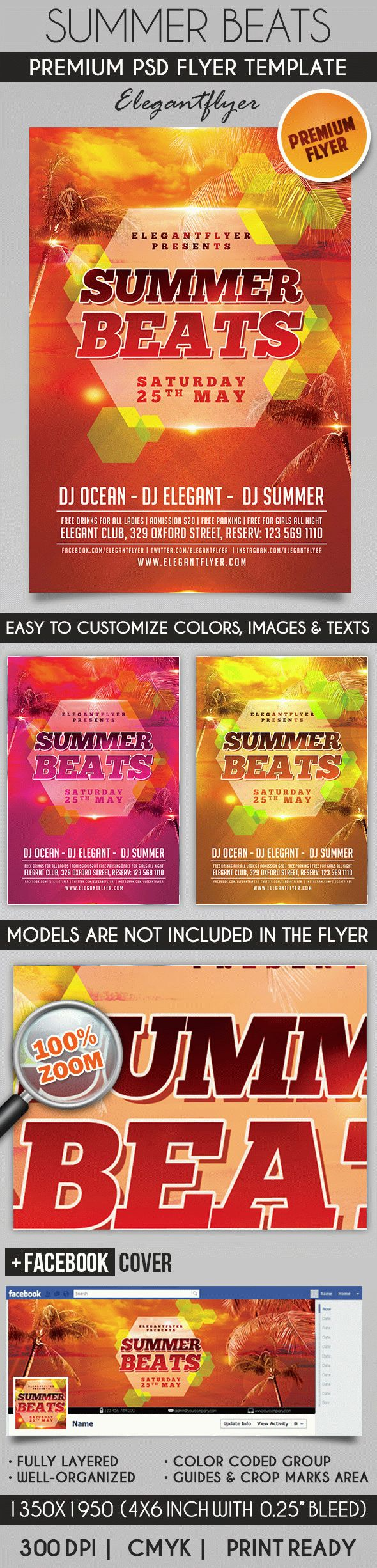 Summer Beats – Flyer PSD Template