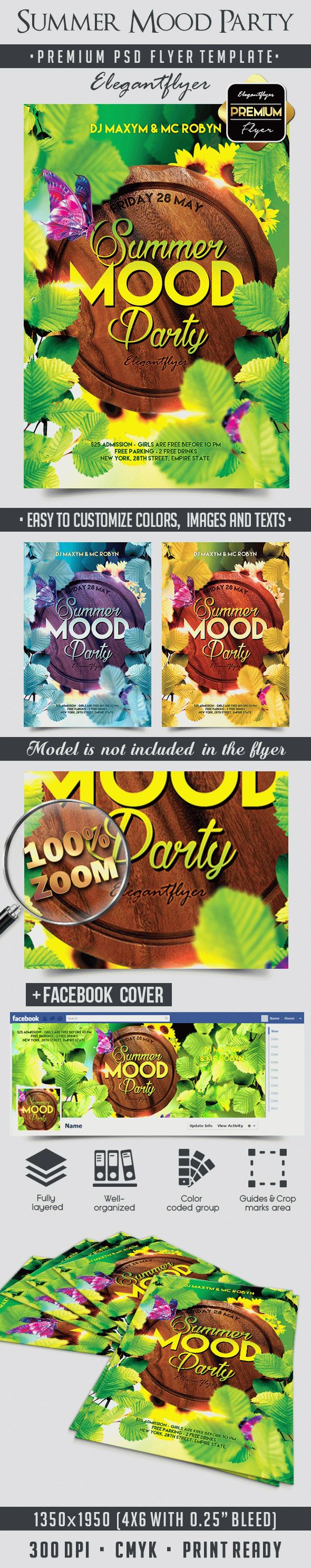 Summer Mood Party – Flyer PSD Template