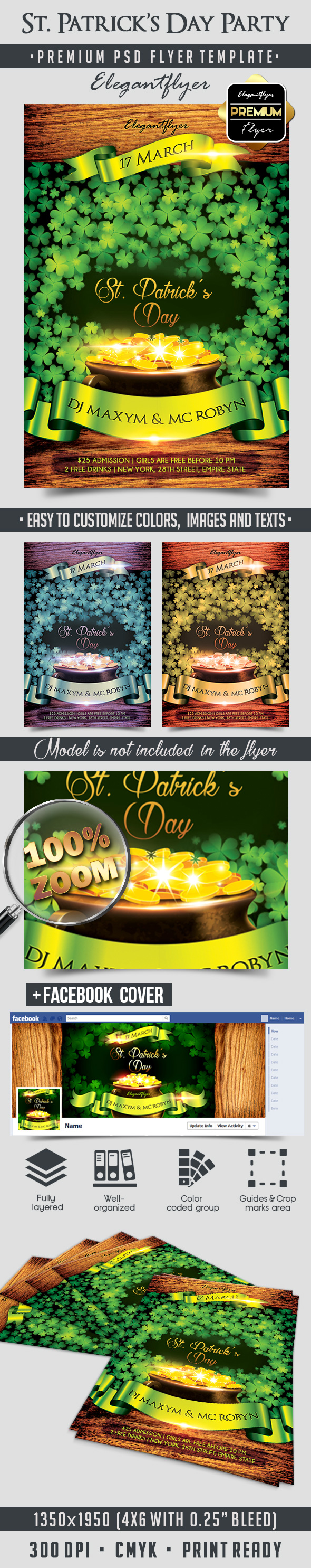 st  patrick u2019s day party  u2013 flyer psd template  u2013 by elegantflyer
