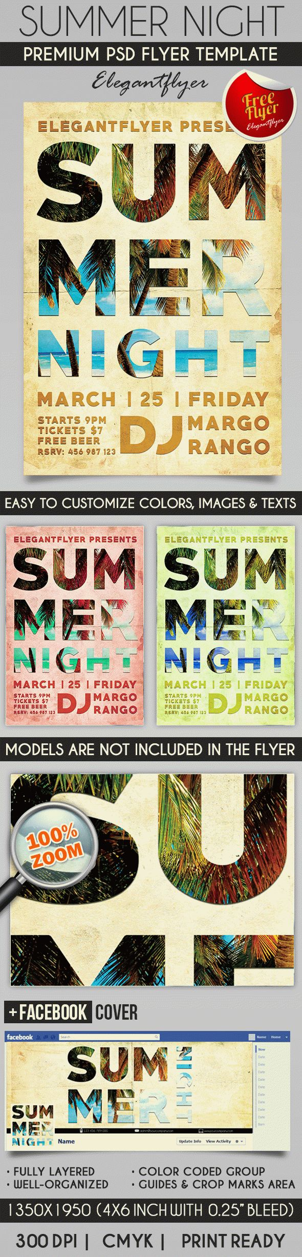 Flyer for Summer Night Club