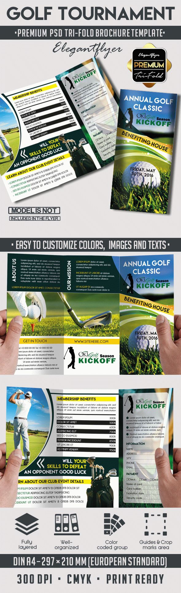 tri fold template for golf tournament by elegantflyer. Black Bedroom Furniture Sets. Home Design Ideas