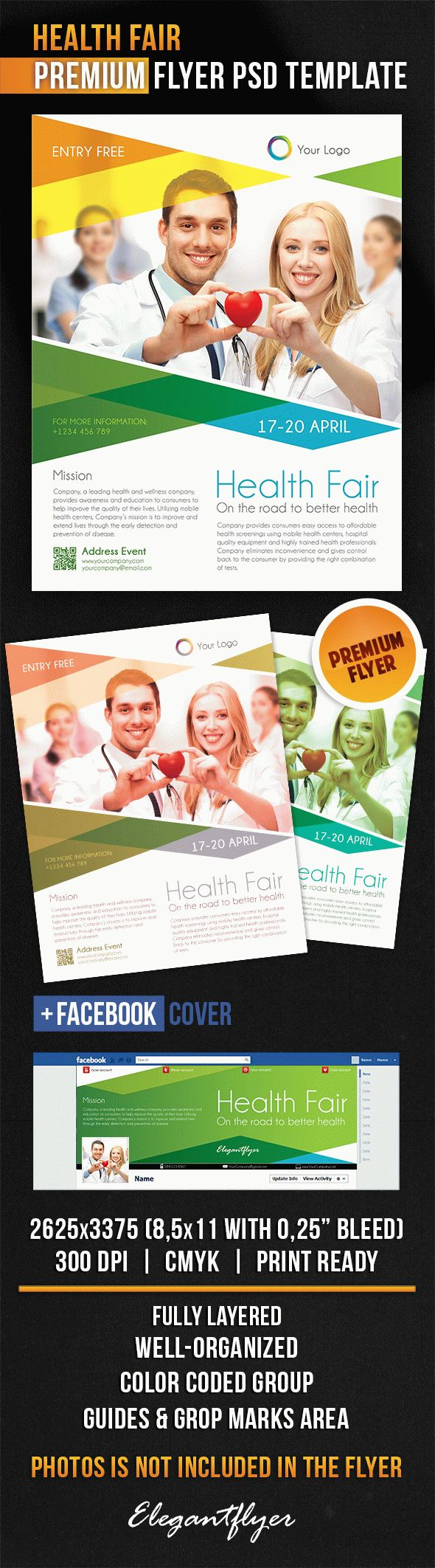 Health Fair – Flyer PSD Template + Facebook Cover