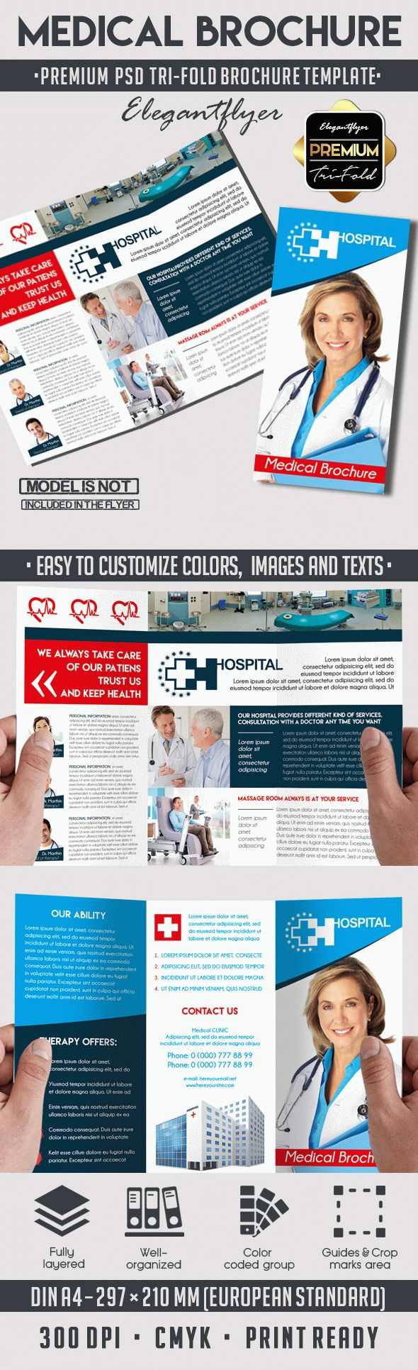Medical_Tri-Fold PSD Brochure Template