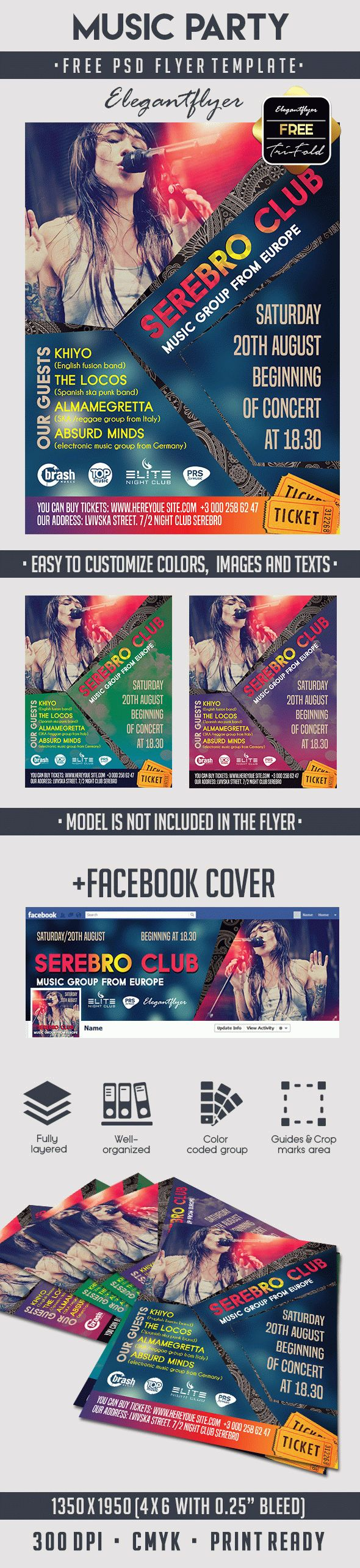 Music Party – Free PSD Flyer Template
