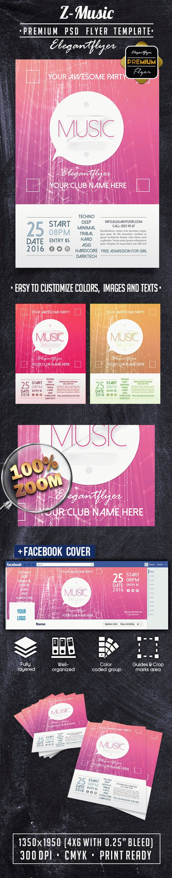 Z-Music PREMIUM Flyer PSD Template